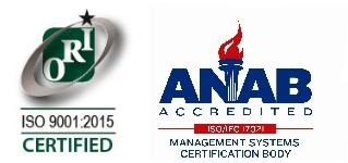 ISO9001:2015  ANAB-Accredited